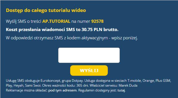 zablokowana usługa sms premium pod przeglądarką