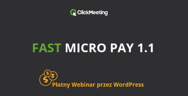 płatny dostep do webinaru clickmeeting przez wordpressa