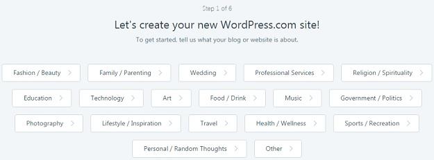 wybierz kategorię bloga
