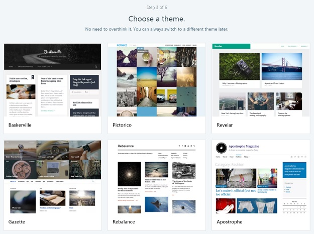 wybierz szablon na bloga
